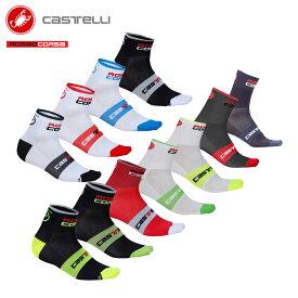 [オープン記念!]【即納】CASTELLI 7072 ROSSO CORSA 6 カステリ ロッソコルサ ソックス/サイクリングウェア サイクル 自転車