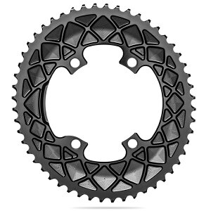 Absolute Black(アブソリュートブラック) 楕円形 チェーンリング Ovalチェーンリング ROAD 53T 9100/8000系 ブラック ROV9100/53/4BK