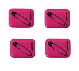 Bibbits ビブビッツ Safety Pin pink マグネット式ゼッケン止め ロードバイク 自転車