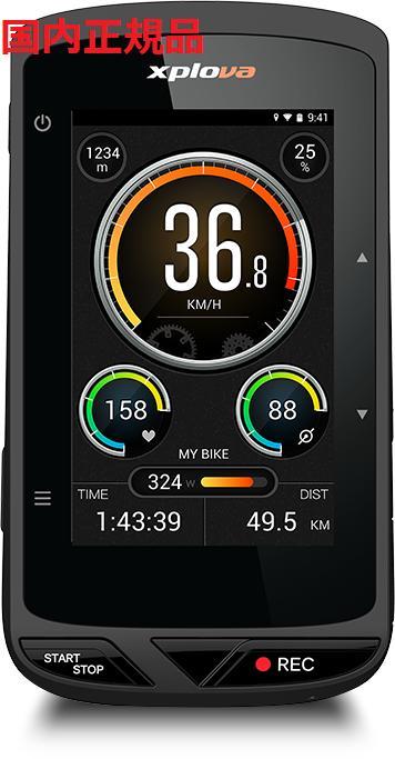 Xplova X5−EVO エクスプローバ カメラ機能搭載 GPSサイクルコンピューター 日本国内正規品 自動録画 サイコン ロードバイク 自転車 X5EVO