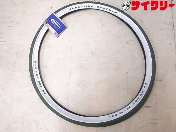 タイヤ 700C シュワルベ クリンチャータイヤ CENTURY 622-50(28x2.00) グリーン - 中古