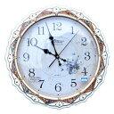 最大P14倍 クーポン有 お買い物マラソン マラソン キラキラとゴージャスな壁掛け時計:5320wh 送料無料 姫系 無音