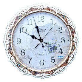 キラキラとゴージャスな壁掛け時計:5320wh 送料無料 姫系 無音