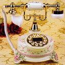 当店限定P10倍 クーポン有 敬老の日 ロココ調!薔薇の電話機:cy323a【送料無料】