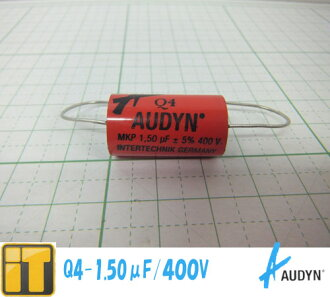 ☆ at 400 V 5% AXIAL and Odin Cap Audyn Cap capacitor Q4-1.50-F/400 V FOLIENKONDENS Q4 MKP 1.50 MF
