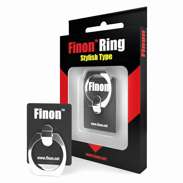Finon(フィノン)【Finon Ring/フィノンリング】高級感のあるマットアルミデザイン・凹凸にも対応する強力な吸着力・壊れにくい仕様【iPhone/iPad/Xperia/Huawei/Zenfone/MOTO/その他多様あな機種に対応】