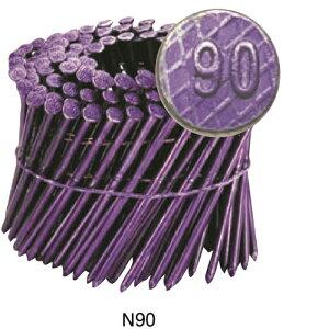 ワイヤー連結 カラーNロール釘 SN38-90CD N90紫 120本x10巻入り
