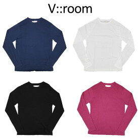 【v::room】ヴイルーム カットソー CASHMERE SOFT JERSEY リラックス感 カジュアル メンズ カシミヤ 182790