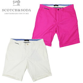 【SCOTCH&SODA】スコッチアンドソーダ COTTON CHINO SHORTS コットンチノショーツ ハーフパンツ ショーツ シンプル カジュアル