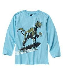 【正規品】Crazy8 長袖Tシャツ◆Skateboarding T-Rex Tee◆ブルー◆コットン 100%◆キッズ【あす楽対応_関東】【0825】