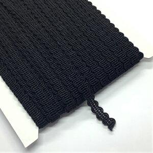 ブレード 黒 ゴールド 金 カルトナージュ 材料  日本製 手芸用品 テープ 手芸用品 裁縫 ハンドメイド 手作り 手づくり 素材 紐 ひも バッグ バック かばん巾約8mm 30m DT20B006
