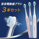 【3本セット】超音波電動歯ブラシ 歯ブラシ 超音波 電動 防水 コンパクト 安い
