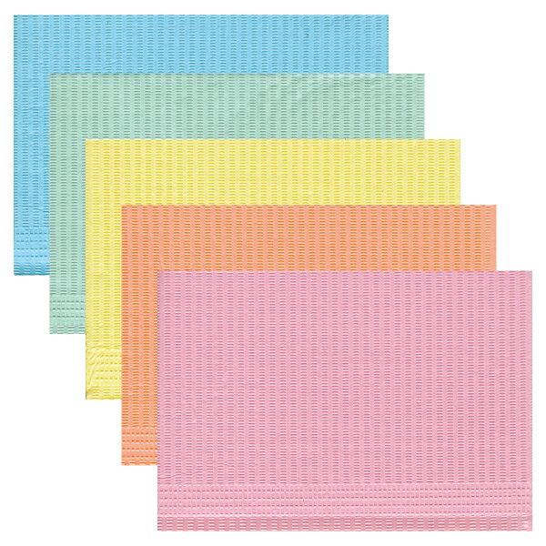 紙エプロン(ペーパーエプロン)5カラーミックス 1箱(500枚)