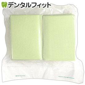 【送料無料】リセラ紙エプロン Vパック グリーン 1個(100枚)3層片面防水・エンボス加工