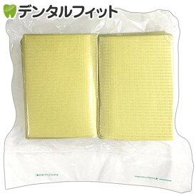 【送料無料】リセラ紙エプロン Vパック イエロー 1個(100枚)3層片面防水・エンボス加工