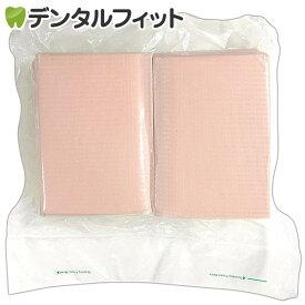 【送料無料】リセラ紙エプロン Vパック ピーチ 1個(100枚)3層片面防水・エンボス加工