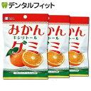 【メール便選択で送料無料】BSA みかんキシリトールグミ 3袋セット(12粒/袋)