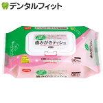 ハビナース歯みがきティッシュ(くち当たりおだやかタイプ)90枚|口臭清涼剤