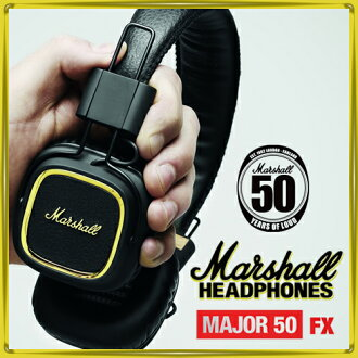 马歇尔耳机等主要 50FX / 马歇尔耳机主要 50 FX [50 周年纪念模型限制 iPhone iPod iPad 兼容模型迈克 & 远程控制与卷按钮耳机时尚高品质]