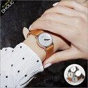 ★サークルフレームレザーベルト腕時計・全4色★n45938 レディース【acc】【オフィスカジュアル】