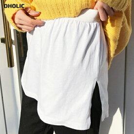 【15日09:59まで特価】【今ダケ送料無料】スリットレイヤードTシャツ・全2色 t51250 レディース【acc】【レイヤードトップス Tシャツ スリット トレーナー スウェット ニット オーバーサイズ ルーズ スリット ウエストゴム 付け裾 つけ裾 体型カバー 腰まわり】【UB3】