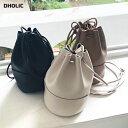 ミニマル巾着バッグ・全3色・d55033 レディース【bag】【バッグ 巾着バッグ 巾着 ミニ 小さい 合皮 単色 ショルダーバ…