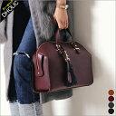 ★フェイクレザー2WAYボストンバッグ・全4色★t43040-1 レディース【bag】【オフィスカジュアル】【ハイホリHIHOLLI】