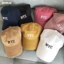 NYC刺繍キャップ・全7色・n57730 レディース 【acc】【韓国 ファッション 帽子 キャップ ハット 刺繍 カジュアル ベー…