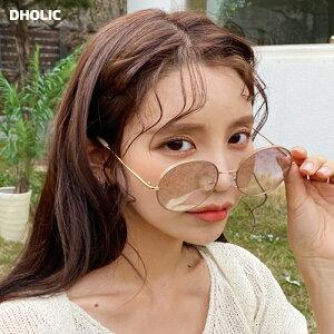 UV400ラウンドサングラス・全5色・d58711 レディース 【acc】【韓国 ファッション サングラス UV400 UVカット 紫外線カット ラウンドフレーム 丸めがね 丸メガネ 小顔効果 カジュアル】