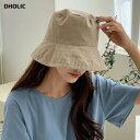 コットンバケットハット・全5色・d60712 レディース【acc】【韓国 ファッション 帽子 ハット バケットハット 綿 コッ…