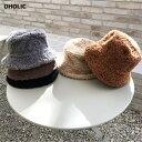ボアバケットハット・全5色・d61630 レディース【acc】【韓国 ファッション 帽子 ハット バケットハット ボア ボアハ…