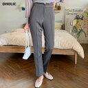 スリムスラックス・全3色・t62694 レディース 【pt】韓国 ファッション ボトムス ロング ロングパンツ スラックスパン…