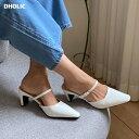 スリムストラップミュール・全3色・s63311 レディース 【sho】 韓国 ファッション シューズ 靴 ミュール ストラップミ…