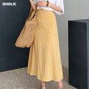 チェックフレアスカート・全2色・t56299 レディース【sk】【韓国 ファッション スカート ロング ロングスカート チェ…