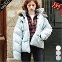 【送料無料】フードフェイクファーハイネック中綿ジャケット・全3色・e48541 レディース【jk】【ショート丈 アウター …