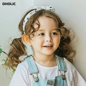 コントラストドットリボンヘアバンド・p004613 キッズ【3~8才】【acc】【ヘアアクセサリー ヘアバンド コントラスト 配色 ドット ドット柄 リボン かわいい 女の子 韓国 韓国子供服 子供 こど