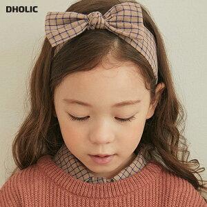 【キッズ20%OFF】チェックリボンヘアバンド・p006513 キッズ【3~8才】【acc】【ヘアアクセサリー リボン りぼん ヘアバンド バンド 可愛い かわいい 女の子 韓国 韓国子供服 子供 こども 子供服