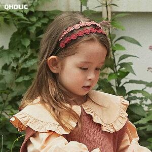 【キッズ20%OFF】フラワーレースカチューシャ・p007014 キッズ【3~8才】【acc】【ヘアアクセサリー カチューシャ レース 花柄 フラワー 可愛い かわいい 女の子 韓国 韓国子供服 子供 こども 子