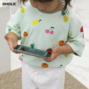 【キッズ20%OFF】フルーツプリントTシャツ・p003244 キッズ【3~8才】【tops】【トップス Tシャツ 半袖 ハーフスリーブ プリント くだもの 果物 フルーツ 可愛い かわいい 女の子 男の子 春 夏 韓国