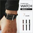 *CASIO*スクエアーフレームリアルレザー腕時計・全3色・n47225 メンズ【acc】【カシオ ビジネス オフィスカジュアル …