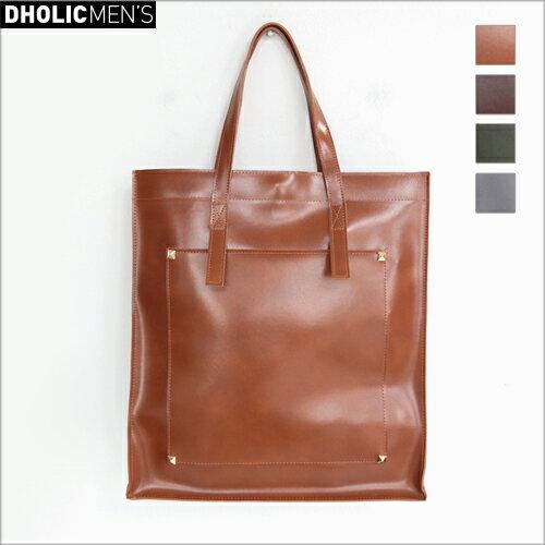 2WAYレザーライクスタッズスクエアバッグ・全4色 n47864 メンズ【bag】【四角 ビジネス オフィスカジュアル】