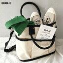 2WAYポケットキャンバスバッグ・全2色・n47900 レディース【bag】【韓国 ファッション 人気 ショルダーバッグ ショル…