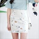 フラワーパターンタイトミニスカート・全3色・b47436 レディース【sk】【花柄】