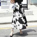 ≪人気商品再入荷≫ビッグフラワーフレアヘムスカート・全3色・t52542 レディース【sk】【韓国 ファッション 人気 ス…