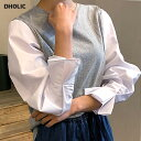 ≪人気商品再入荷≫スリーブタックコントラストTシャツ・全3色・b56244 レディース【tops】【トップス Tシャツ 長袖 …