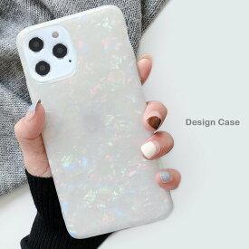 iPhone12 ケース iPhone12Pro 貝殻 スマホケース ホログラム 可愛い iPhone12mini パール iPhone12ProMax ストラップホール iPhone 12 アイフォン12シリーズ対応ケ 背面 カバー シンプル 貝殻模様 大人気 TPUケース 薄型 軽量 送料無料