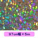 ホログラムシート クリスタル(シルバー) 97cm×5mロール【ホログラムシール】