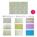 【送料無料】透明ホログラムシート 選べる9パターン20cm×30cm(約A4サイズ)