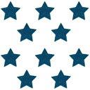 【送料無料】グリッター アイロン 星シール 選べる13色グリッター アイロン シール一袋 同色10個入