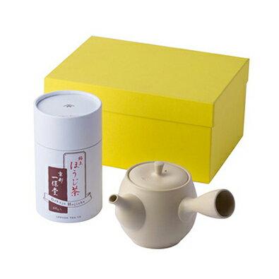 〈一保堂茶舗〉極上ほうじ茶・常滑アイボリー急須極上ほうじ茶・急須[N]glm【RCP】_Y141206200002_0_0_0